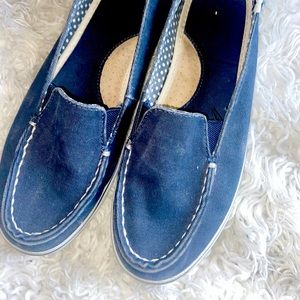 Faded Blue Canvas Sperrys
